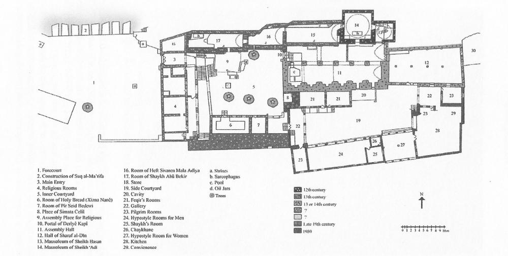 Fig. 41 - Piano terra santuario Sheikh 'Adī (Açıkyıldız 2015: Fig. 2)