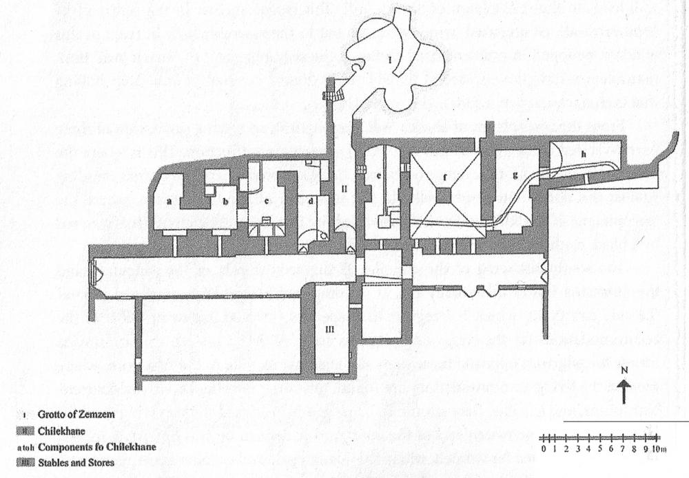 Fig. 42 - Piano interrato santuario Sheikh 'Adī (Açıkyıldız 2015: Fig. 4)