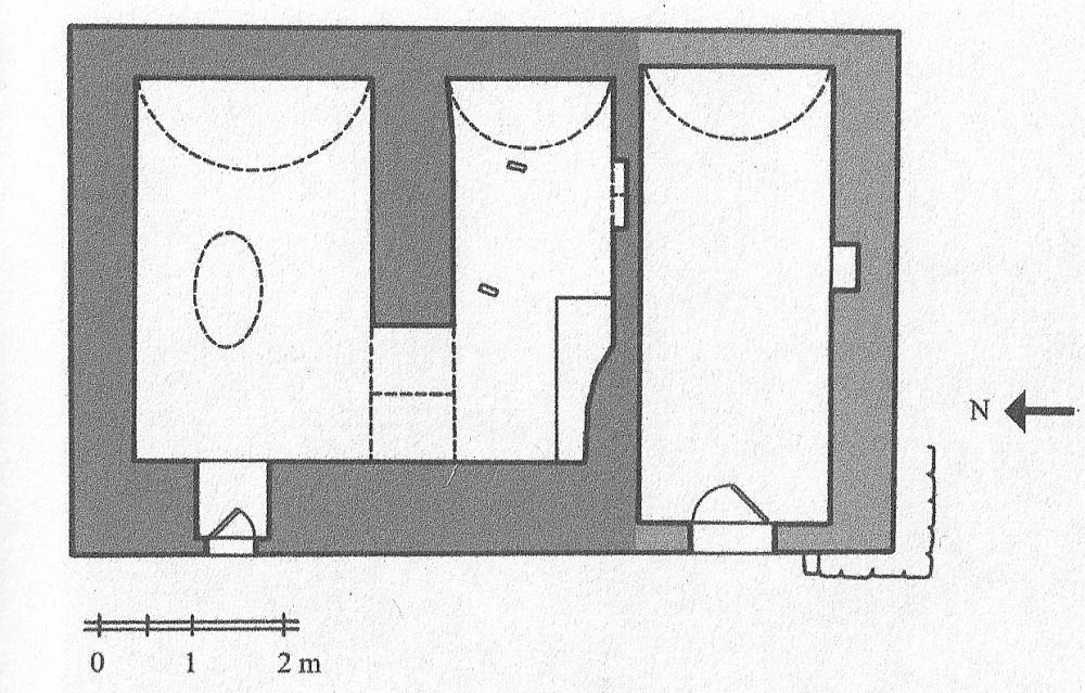 Fig. 52 - Rectangular-plan and two sectors mausoleum (Açıkyıldız 2015: Fig. 18)