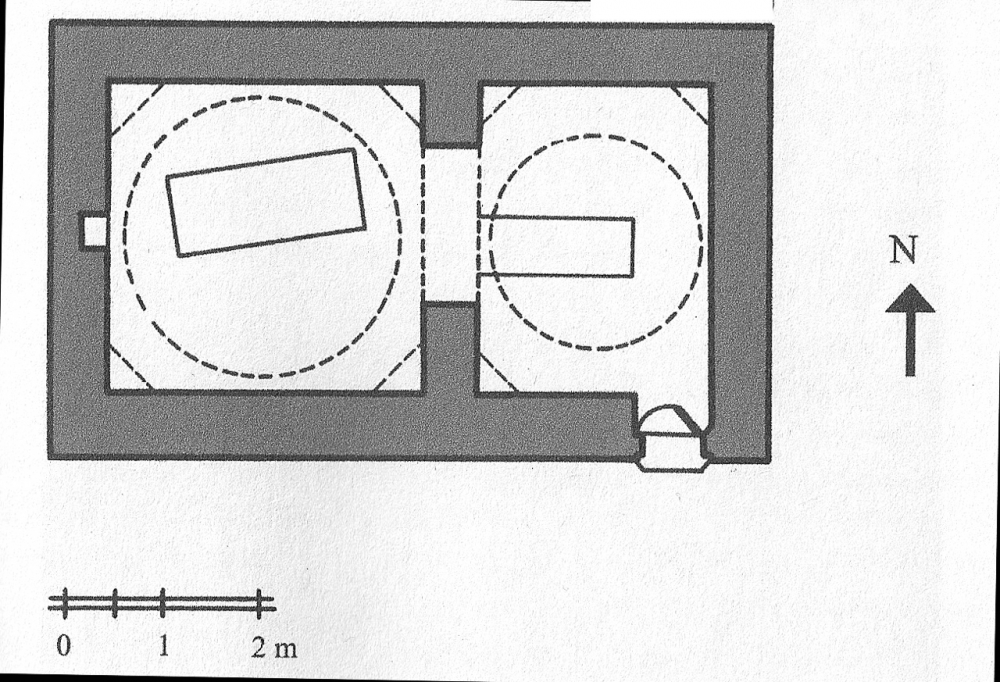 Fig. 53a - Mausoleum with rectangular plan and antechamber (Açıkyıldız 2015: Fig. 21)